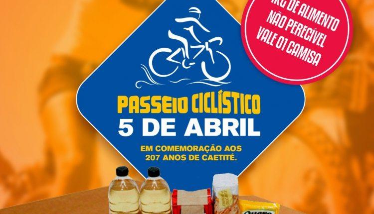 Passeio Ciclístico será realizado em comemoração ao aniversário de Caetité
