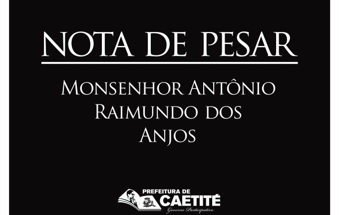 Nota de pesar pelo falecimento do Pe. Raimundo