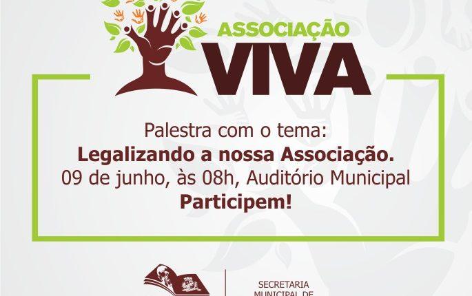 Secretaria de Desenvolvimento Social realiza palestra para Associação Viva