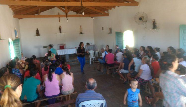 Equipe do CRAS Rural realiza palestra em Tanquinho de Aroeiras