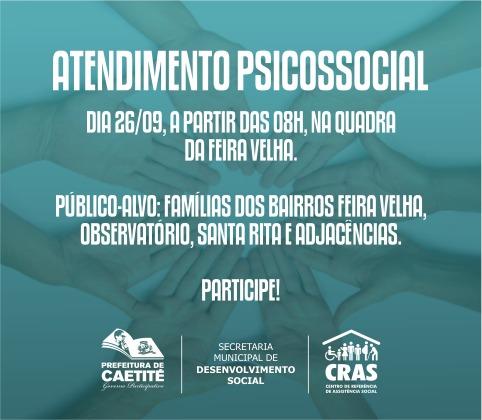 CRAS realizará atendimento psicossocial na Feira Velha