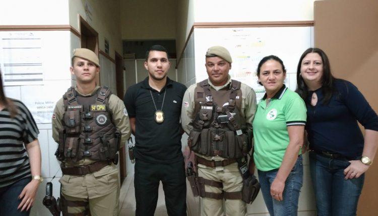 Alunos do colégio Manoel Lopes participam de palestra com Polícia Militar