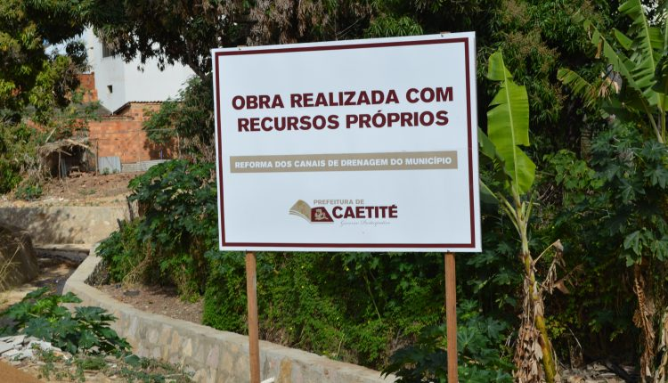 Prefeitura de Caetité realiza obras de canalização e revitalização de rios