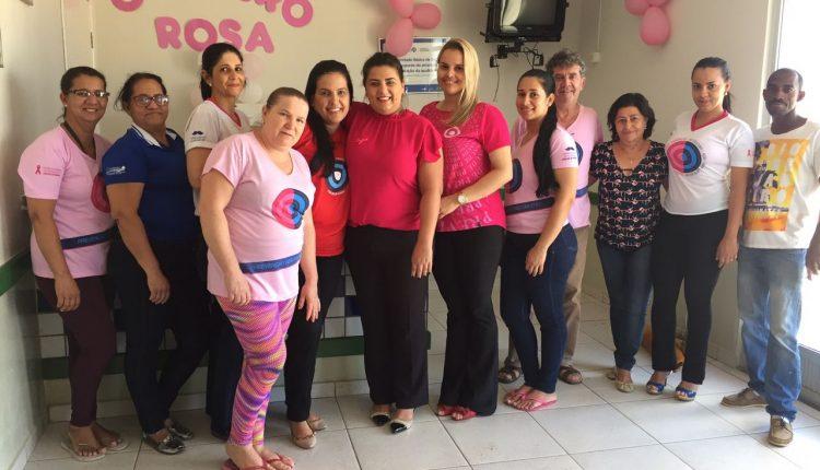 Unidades de Saúde da Família dos distritos de Maniaçu e Pajeú do Vento realizam evento do Outubro Rosa