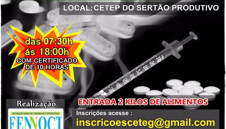 1º Seminário sobre dependência química acontecerá nesta sexta-feira em Caetité