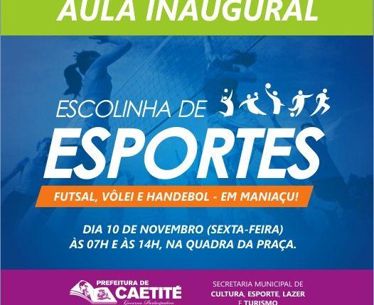 Projeto Escolinhas de Esportes chega ao distrito de Maniaçu