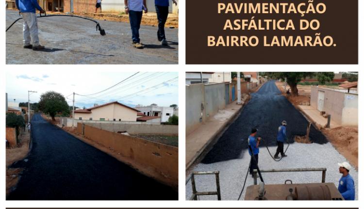 Governo Participativo realiza 1ª etapa da pavimentação asfáltica do bairro Lamarão