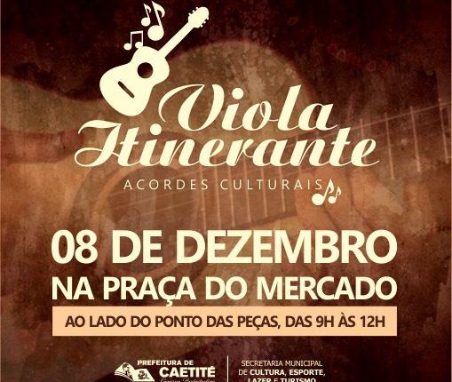 Projeto Viola Itinerante será nesta sexta-feira (08/12)