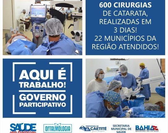 1º Mutirão de Cirurgias de Catarata 2018 é realizado com sucesso em Caetité
