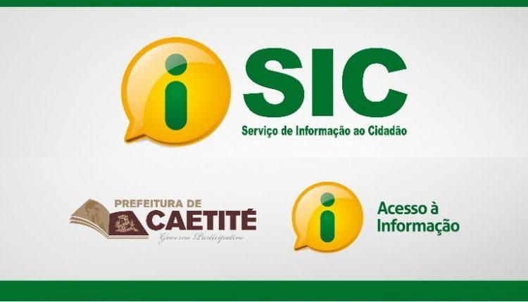 Conheça o Portal e-Sic da Prefeitura de Caetité
