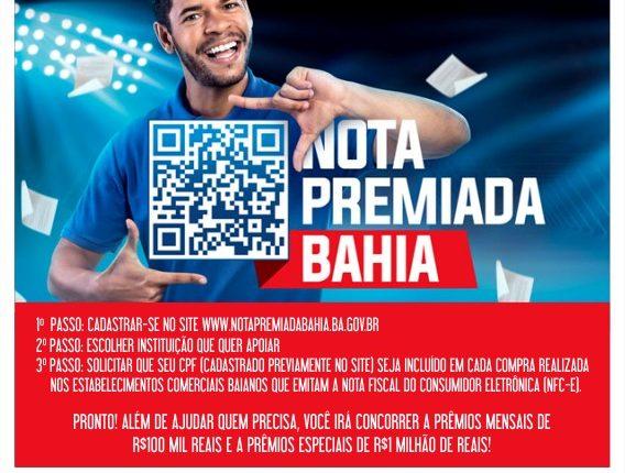 Caetité participa da campanha Nota Premiada Bahia