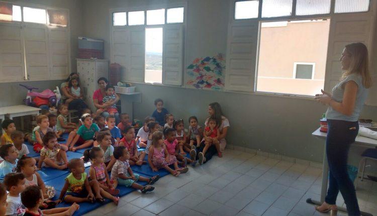 CAE III realiza atividades educativas na Creche Menino Jesus de Praga