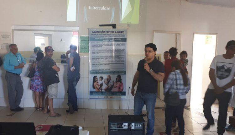Palestra sobre a tuberculose é realizada na UBS Dr. Woquiton