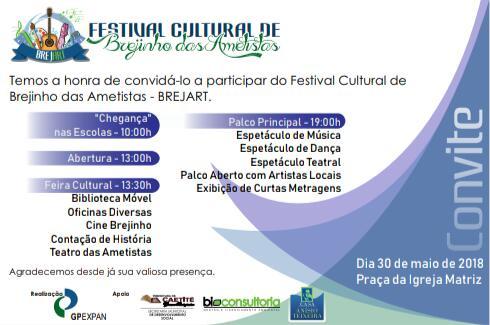 Brejinho das Ametistas receberá Festival Cultural BREJART