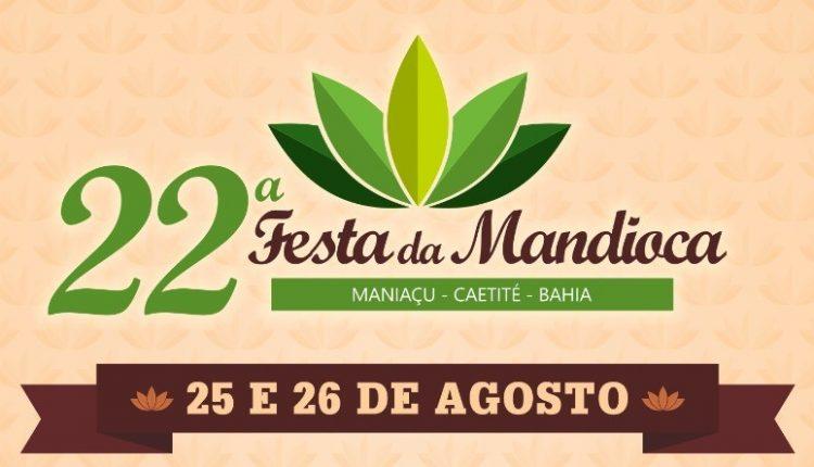Tá chegando a tradicional Festa da Mandioca em Maniaçu