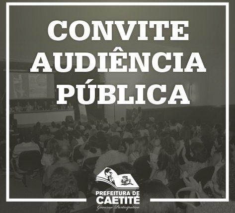 Prefeitura de Caetité convoca população para audiência pública de elaboração da LOA
