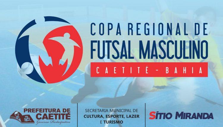 Está chegando a Copa Regional de Futsal Masculino em Caetité