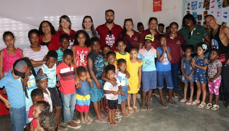 Programa Primeira Infância no SUAS realizou dia da criança na Comunidade Quilombola de Malhada