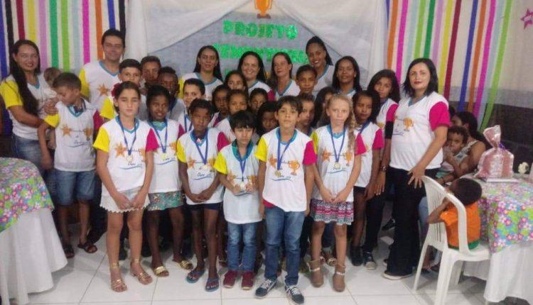 Escola da comunidade do Cercado realizou culminância do Projeto Sementinha de Ouro