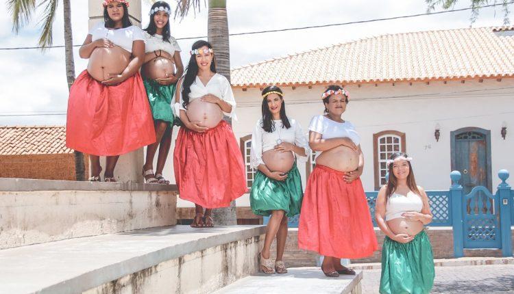 Governo Participativo realiza ensaio fotográfico com grávidas do CRAS