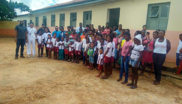 """Projeto itinerante """"Unindo forças"""" é realizado na Comunidade de Sambaíba"""