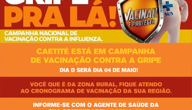 Caetité está em Campanha de Vacinação contra a Gripe