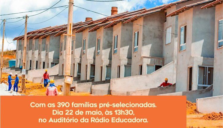 Prefeitura de Caetité realizará reunião com famílias pré-selecionadas do Programa Minha Casa Minha Vida