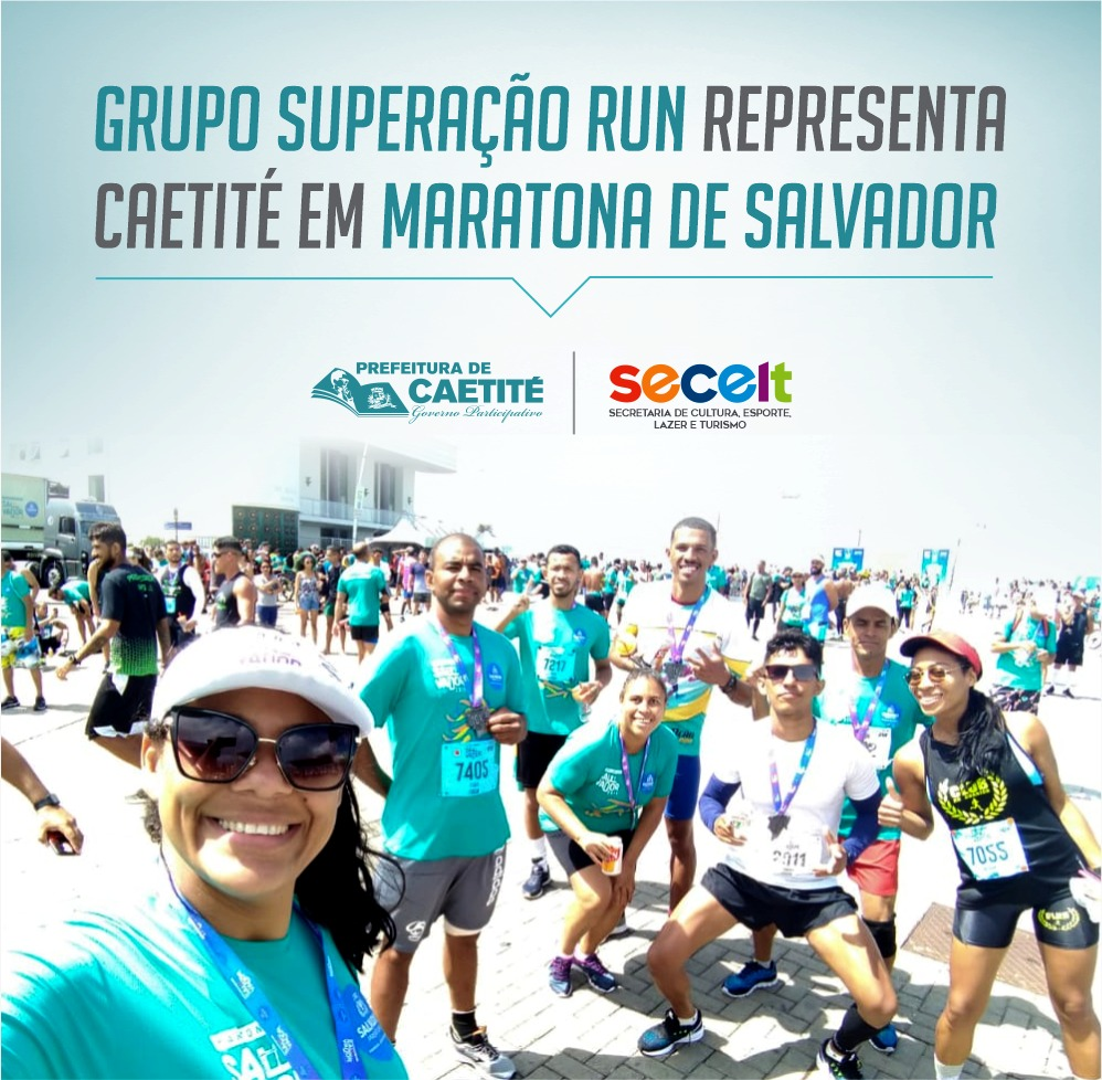 Grupo Superação Run representa Caetité em Maratona de Salvador