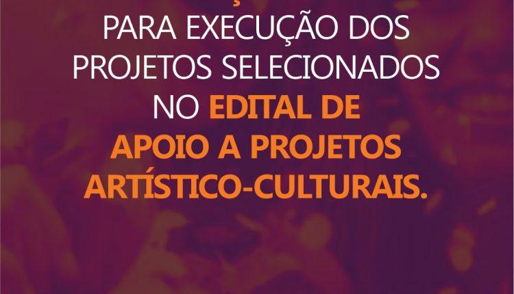 Secelt prorroga prazo para execução dos projetos selecionados no edital de apoio a projetos artístico-culturais