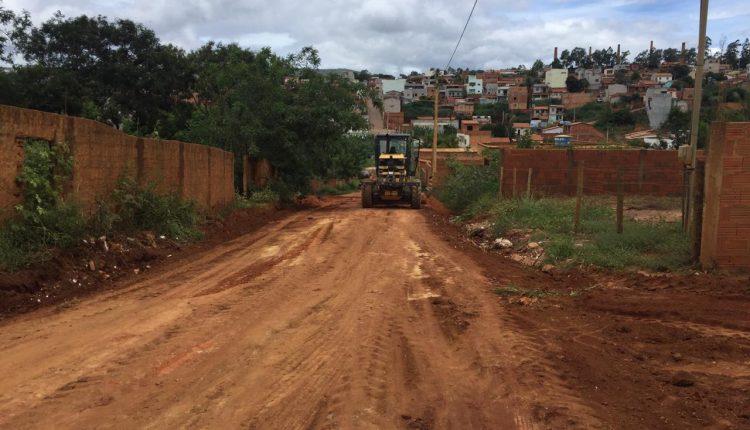 Após fortes chuvas a Prefeitura de Caetité segue com trabalho emergencial no bairro Prisco Viana