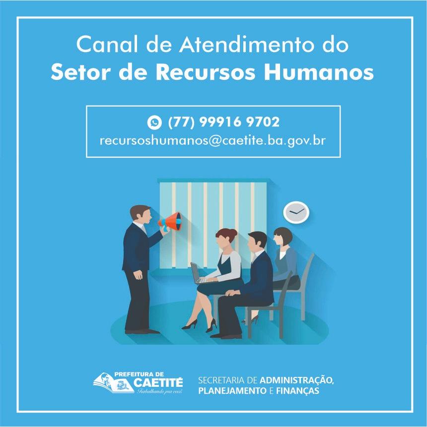Prefeitura de Caetité disponibiliza canal de atendimento para servidores